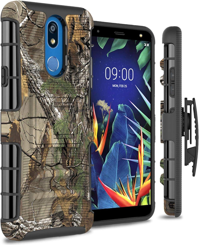 CoverON Belt Clip Holster Explorer Series Case for LG Xpression Plus 2 / LG Harmony 3 / LG Solo LTE/LG K40 (Camo)