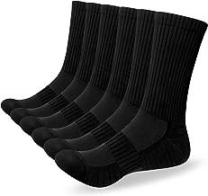 Alaplus Heren Sokken 6 paar Wicking Ademend Kussen Comfortabele Casual Crew Sokken Outdoor Multipack Prestaties Wandelen T...