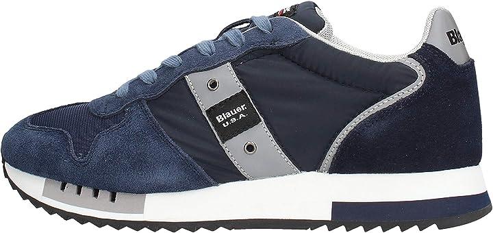 Scarpe blauer sneakers queens01 suede queens01nvy 41873-40