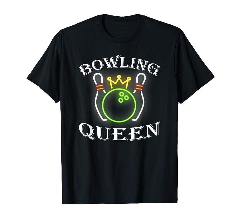 bowling Queen Pin Matching bowling team t shirt