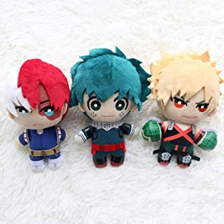 "DHSPKN My Hero Academia Plush Doll Toys Anime Izuku Todoroki Katsuki Plush Dangler 6"" Plush Puppets"