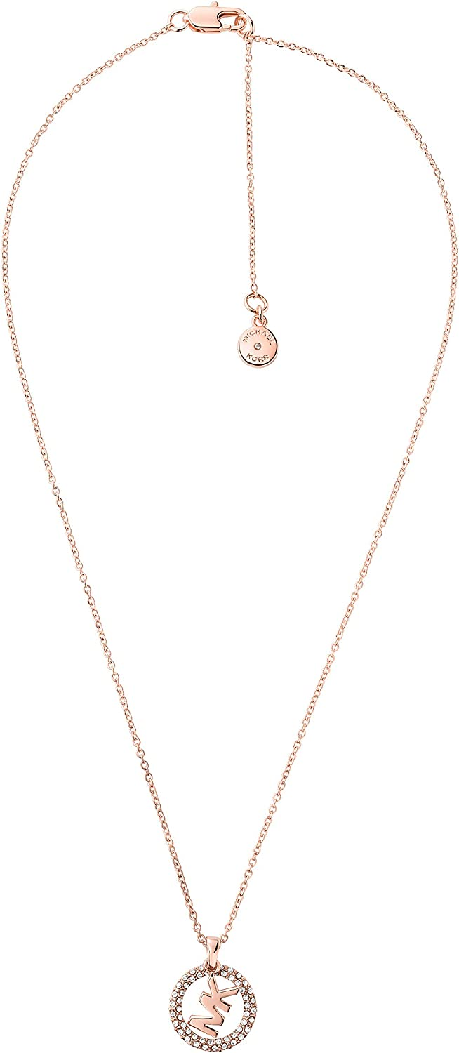 Michael It is very popular Kors Women's Stainless Max 77% OFF Pendant Steel Necklace