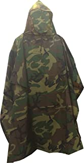 Fire Force Military Style Ripstop Nylon Poncho Size: 55 x 90 Made in U.S.A. Ripstop Rain Poncho