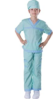 Spooktacular Creations Dr. Scrubs Deluxe Kids Toddler Vet Costume Set in Green for Scrub's Pretend Play, Halloween Jr. Doc...
