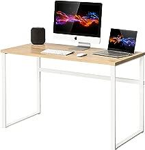 Homury Computer Desk Office Desk Wood Study Writing Soho Desk Table for Home Office,White
