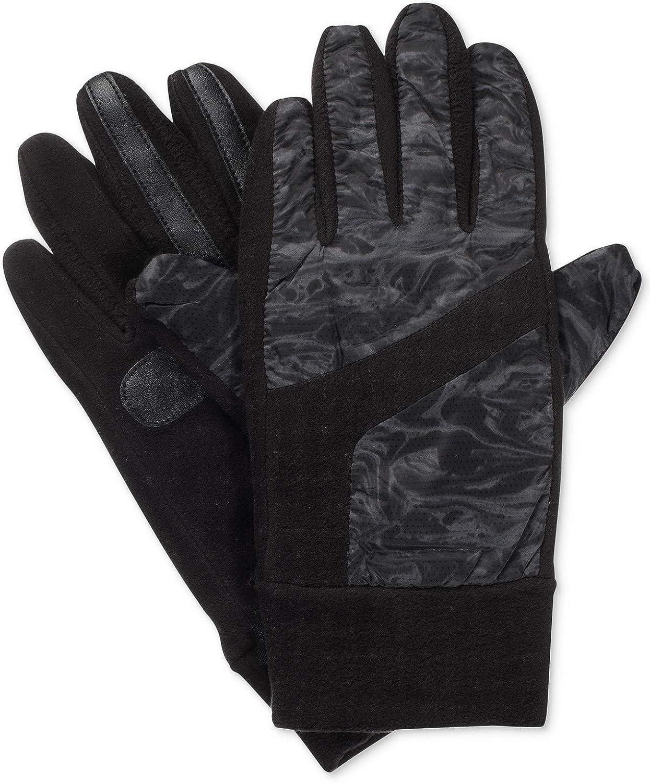 Isotoner Signature Women's SmartDRI smarTouch Mixed Media Gloves S/M Black