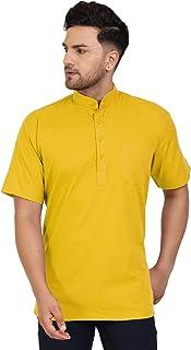 SKAVIJ Men's Cotton Tunic Casual Short Kurta Regular Fit