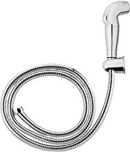 Hindware Health Faucets Health Faucet ABS with Double Lock 1.2m Stainless Steel Flexible Hose and Wall Hook (Chrome)