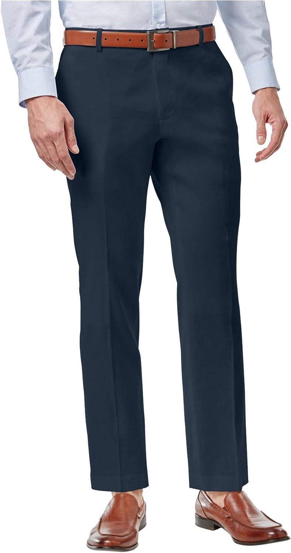 I-N-C Mens Linen Casual Trouser Pants, Blue, 34W x 32L