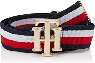 Tommy Hilfiger Women's Monogram Buckle Elastic Belt, Corporate, 85