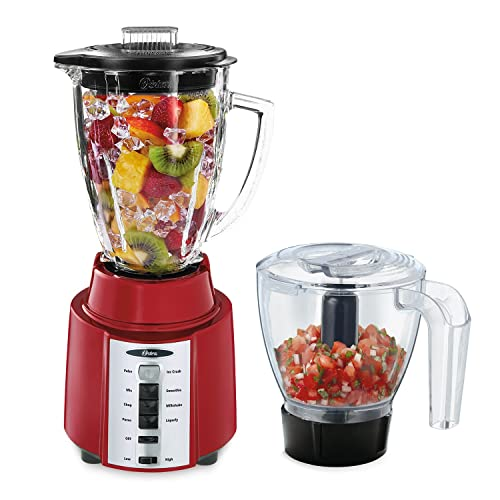 Oster Rapid Blend 8-Speed Blender with Glass Jar and Bonus 3-Cup Food