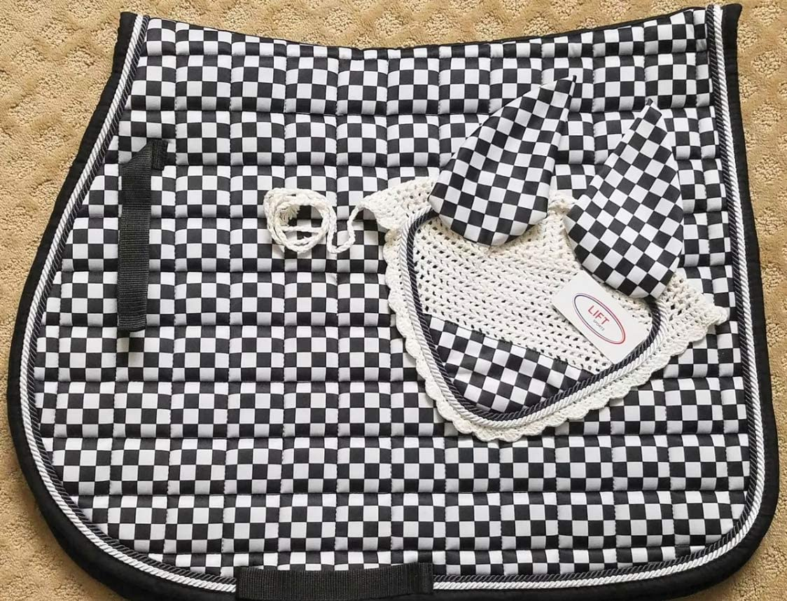 Lift Sports New Horse English Saddle Max 50% OFF Set Seasonal Wrap Introduction Matching Bonnet Fly Pad