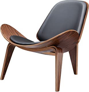 SHUJINGNCE Réplique Lounge Nordic Creative Simple Designer Simple Canapé Chair Smile Airplane Shell Chaise Salle à Manger ...