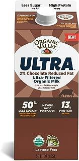 Organic Valley Ultra, Ultra-Filtered Organic 2% Reduced Fat Chocolate Milk - 56 oz Carton