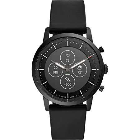 Fossil Men's Collider Hybrid Smartwatch HR with Always-On Readout Display, Heart Rate, Activity Tracking, Smartphone Notifications, Message Previews