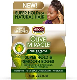 African Pride Olive Miracle Silky Smooth Edges 2.25oz (2 Pack) by African Pride