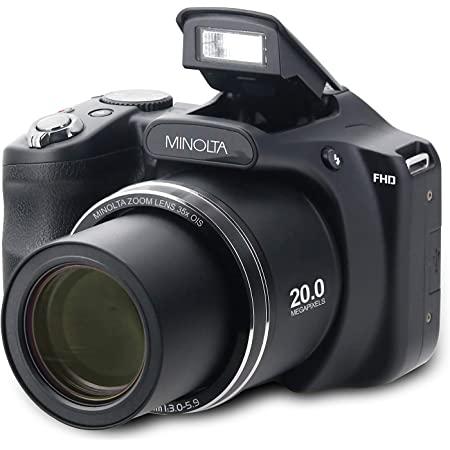 """Minolta 20 Mega Pixels High Wi-Fi Digital Camera with 35x Optical Zoom, 1080p HD Video & 3"""" LCD, Black (MN35Z-BK)"""