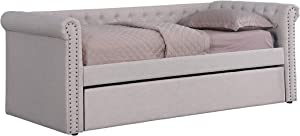 Best Master Furniture Lydia Twin Daybed with Trundle, Beige