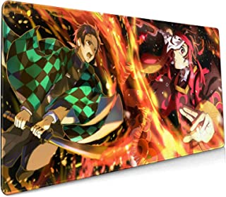 TVXQXIAH Demon Slayer Gaming Mouse Pad, Soft Extra Extended Large Mouse Pad,Anti-Slip Rubber Base,Computer Keyboard Mouse ...