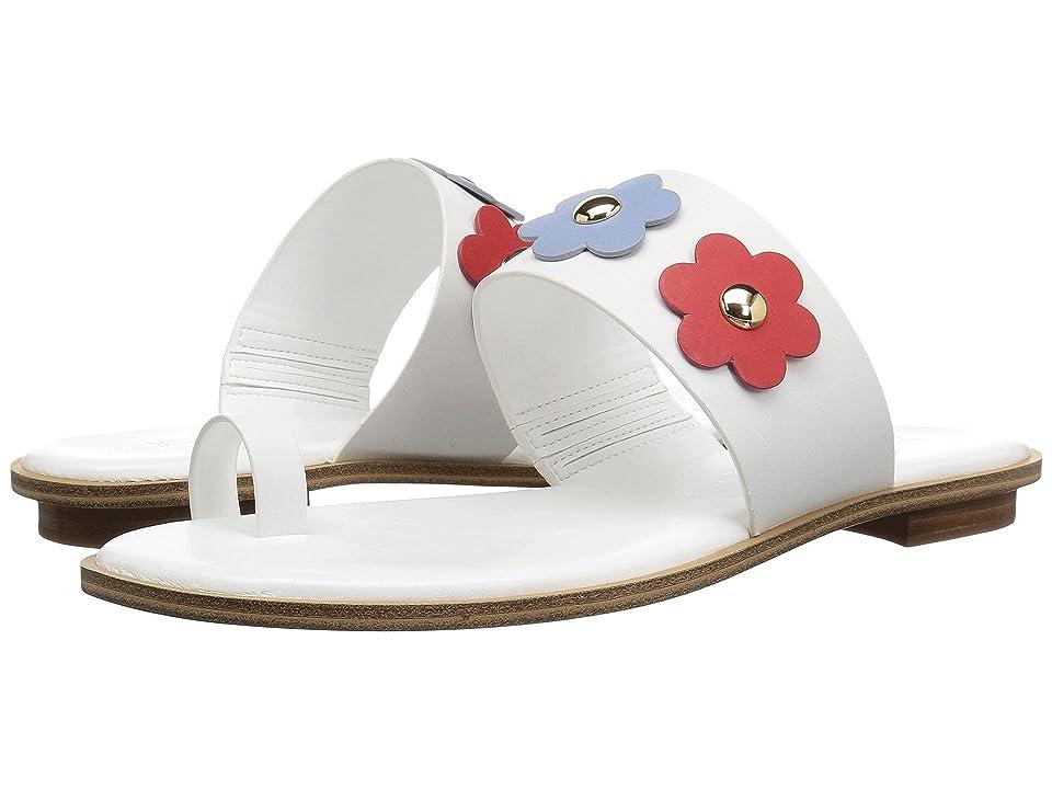 MICHAEL Michael Kors Sonya Flat Sandal (Optic White/Pale Blue/Admiral) Women