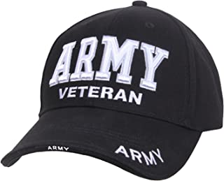 Army Military Veteran Low Profile Cap, Black, OSFM