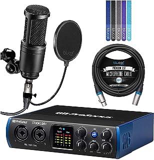 PreSonus Studio 24c USB-C Audio Interface Bundle with Studio One Artist Software, Studio Magic Plug-In Suite, AT2020 Conde...
