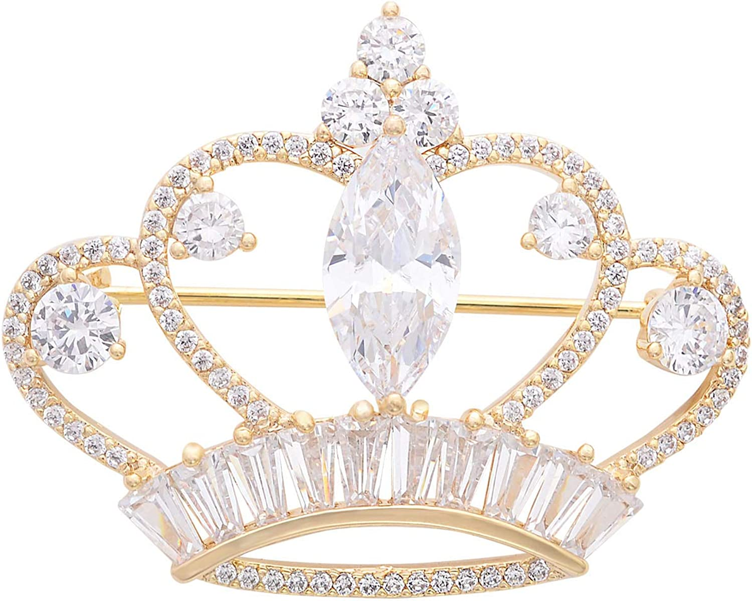 YYBONNIE Princess Queen Crown Brass Zirconia Max 62% OFF OFFicial shop Pave Micro Br Cubic