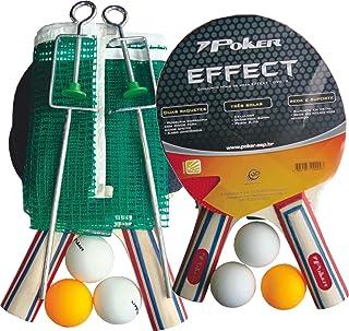 Conjunto Raquete para Ping Pong 3 Bolas Suporte Poker