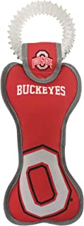 Pets First NCAA Ohio State Buckeyes Dental Dog TUG Toy with Squeaker. Tough PET Toy for Healthy Fun, Teething & Cleaning P...