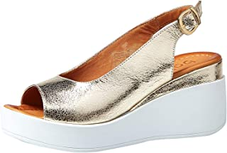 Baldi London Wedge Casual Sandals For Women - Gold