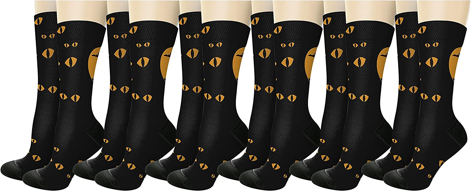 Scary Black All items in the store Cheap sale Cat Novelty Crew Socks
