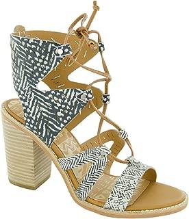 Dolce Vita Luci Heeled Sandal Womens DV1688-BLK-WHT 8.5 Medium Black/White