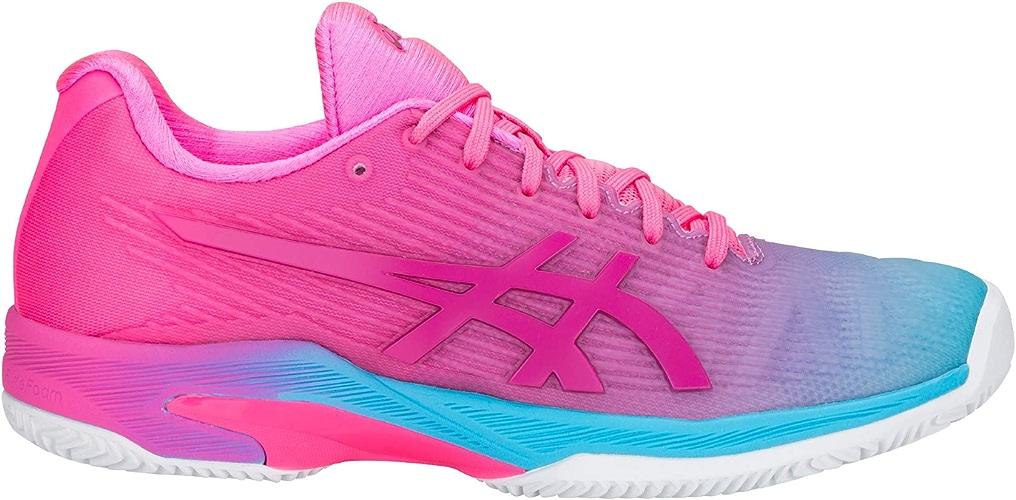 ASICS Chaussures Solution Speed FF l.e Terre battue 1042a025 400 Rose Bleu