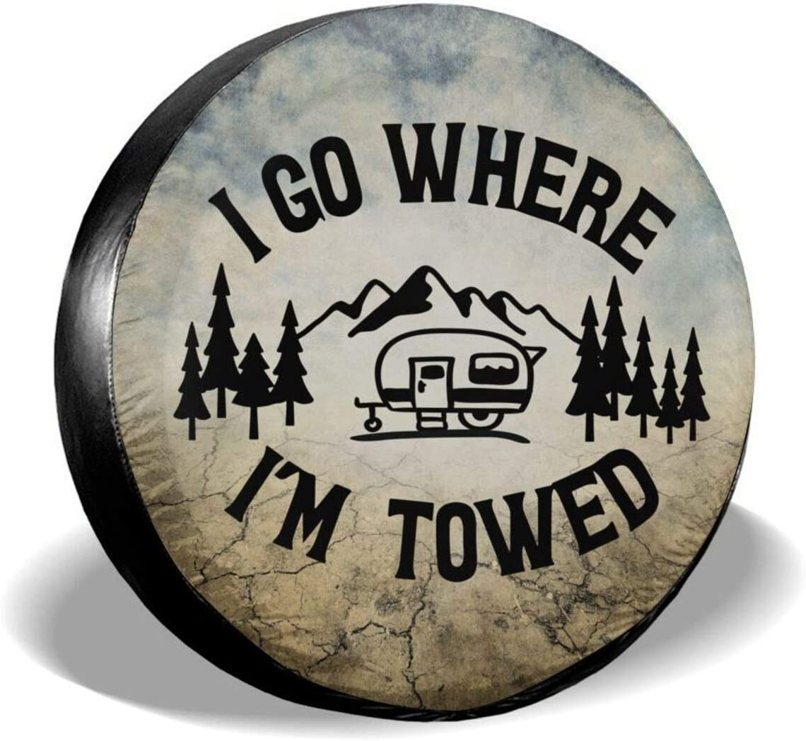 WIDLAN I Challenge the lowest price Go Where I'm Towed Polyester Tire Rapid rise Cover Waterproo Spare