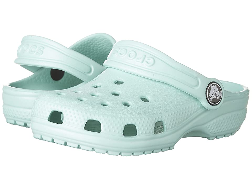 Crocs Kids Classic Clog (Toddler/Little Kid) (New Mint) Kids Shoes