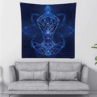 Hitecera Relaxation Meditation Trance Goa,Tapestry Wall Hanging Chakra Wall Art for Living Room Dorm Decor 59.1X59.1Inch