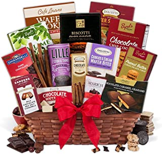 champagne and chocolate gift basket