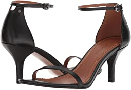 COACH Heeled Sandal,Black Leather
