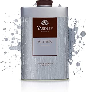 Yardley Arthur Perfumed Talcum Body Powder, masculine, all day fragrance - 250 gm