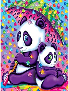 DIY 5D Diamond Painting Kits for Adults Full Drill Embroidery Pictures Arts Crafts for Home Wall Decor Panda Playing Umbrella 11.8 × 15.7in 1 Pack by SAROW