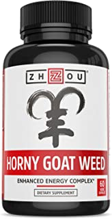 Premium Horny Goat Weed Extract with Maca & Tribulus, Enhanced Energy Complex for Men & Women, 1000mg Epimedium with Icariins, Veggie Capsules
