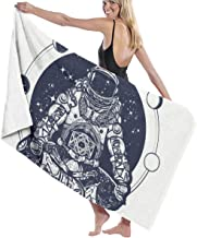 Astronaut In The Lotus Position Tattoo Art And T-shirt Design. Symbol Of Meditation, Harmony, Yoga. Spaceman Yoga 100% Pol...