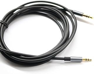 KetDirect Schwarz 1.5ft Gold überzogener Entwurf 3,5 mm Stecker auf 2,5 mm Stecker Auto Zusatzaudiokabel Cord Kopfhörer Anschlusskabel für Apple, Android Smartphone, Tablet und MP3 Player