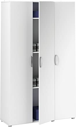Demeyere 305543 Cobi Armoire Multifonctions Avec 3 Portes Panneau De  Particules Blanc 101,4 X