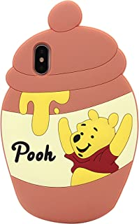 iPhone 7 Plus, iPhone 8 Plus, MC Fashion Cute 3D Cartoon Honey Jar Winnie The Pooh Full Cover Protective Shockproof Soft Silicone Case for Apple iPhone 6+/6s+/7+/8+ (5.5-Inch)