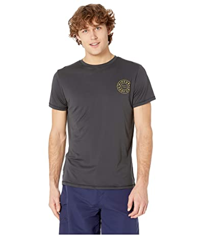 Rip Curl Compass Short Sleeve UV Tee (Dark Grey) Men