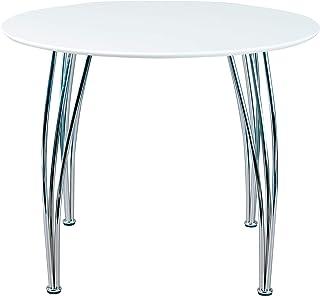 Inter Link Table de salle à manger ronde panneaux de particules blanc