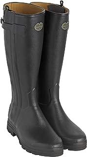 Le Chameau Men's Chasseur Leather Lined Boots Black