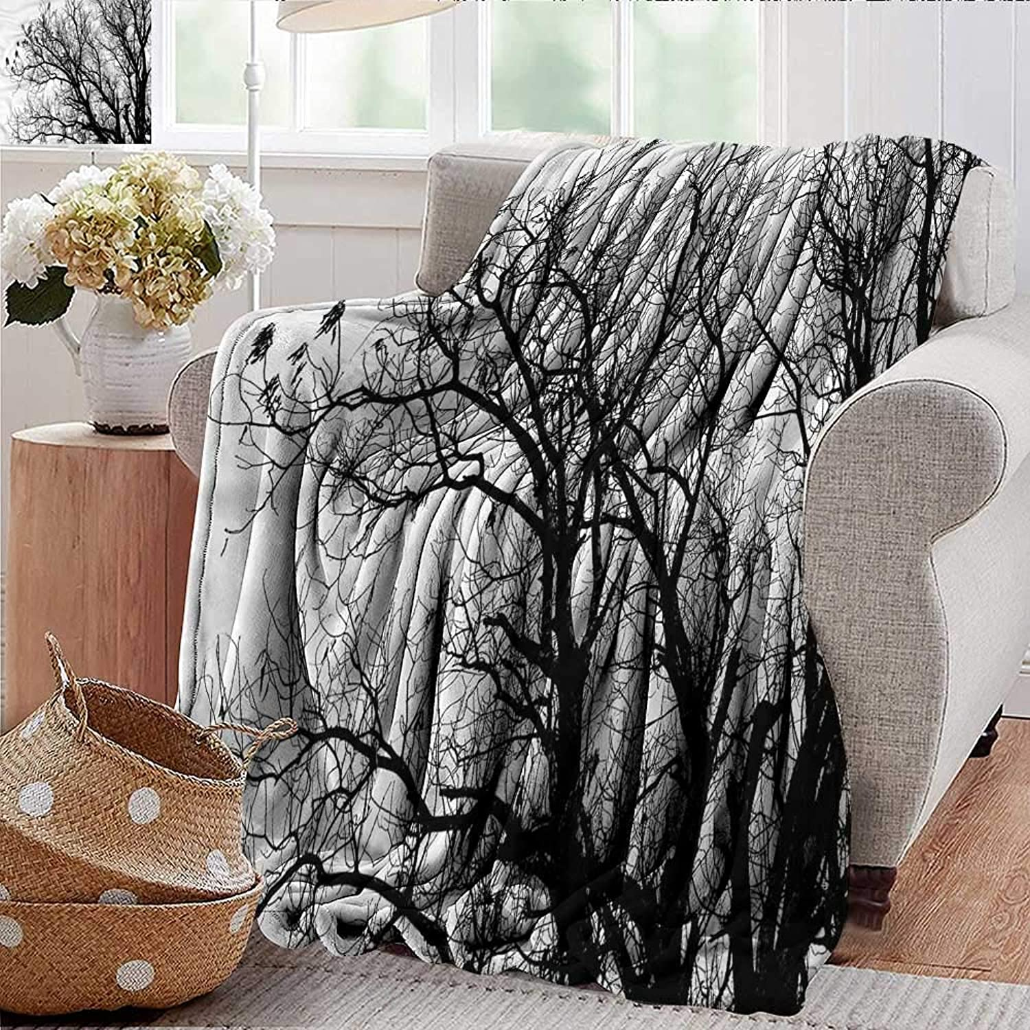 Xaviera Doherty Summer Blanket Nature,Autumn Fall Tree Branch Weighted Blanket for Adults Kids, Better Deeper Sleep 35 x60