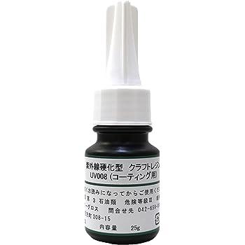 艶 LED&UVクラフトレジン液 【UV008 低粘度ハード】 25g LED・BL硬化対応品